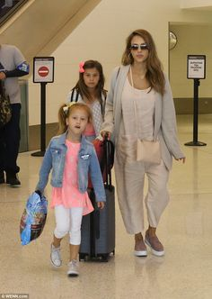 JESSICA A - 08/13/2017  AT LAX WITH DAUGHTERS HONOR AND HAVEN