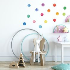 Minimalist Home Deco Rainbow Wall Decal, Removable Wall Decals, Nursery Wall Decals, Cushions, Pillows, Minimalist Home, Scandinavian Style, Home Deco, Wall Stickers