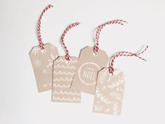 2014 Printable Holiday Tags