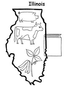 free printable state of illinois coloring pages showing state history demographics and points of interest illinois tradition and culture coloring pages