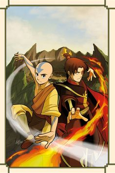 Zuko and Aang, after the end of war.