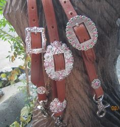 Diamond B Jewelry - Wither Straps & Tie Down Keepers  Bling Leather Adjustable Wither Strap Starts at $39.95
