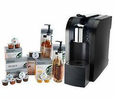 Starbucks 580 Verismo Coffee & Espresso Maker w/ Bonus Pods & Syrups
