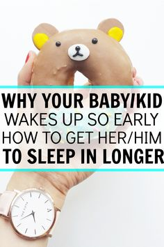 My little one was up and smiling at me at 5am and I was not ready to start the day. This really helped me understand what I was doing wrong and how to get my girl sleeping in longer! Were both so much happier in the morning now! Why your baby or kid wakes up so early and how to get your baby or kid to sleep in longer.