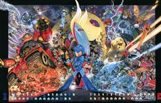 Capcom Heroes 2012 Calendar Submission By Yuusuke Murata