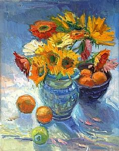 ❀ Blooming Brushwork ❀ garden and still life flower paintings - Don Sahli