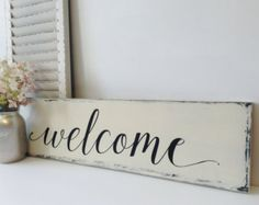 Wedding welcome sign Welcome wedding sign by florasouthdesigns