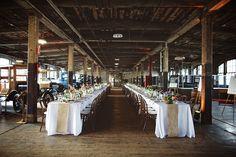 Photography: Jeffrey Lewis Bennett - www.JLBwedding.com  Read More: http://www.stylemepretty.com/midwest-weddings/2014/03/24/detroit-wedding-at-the-ford-model-t-plant/