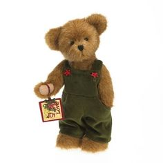 Enesco Boyds Christmas Boy Bear ** Learn more by visiting the image link. (It is an affiliate link and I receive commission through sales) Boyds Bears, Teddy Bears, Minions Clips, Teddy Edwards, Christmas Teddy Bear, Charlie Bears, Holiday Traditions, Plush, Bear Hugs