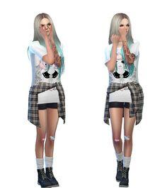 otaku-sims:    Luna Lookbook  ♡   Hair - Nightcrawler T-Shirt - Dani Paradise (mesh) T-Shirt Recolour - By Me  Shorts - EA Shirt Acc. - Tamo sims  Socks - Marigold  Shoes - Madlen