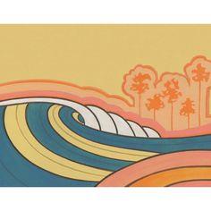 Five Palms - mixed media on wood - by Joe Vickers