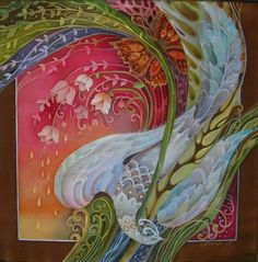 Pintura sobre seda, tecnica batik; Batik art by Love Toscheva http://www.lubovtosceva.ru/