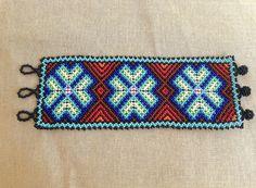Wixaritari Peyote Bracelet, Beaded Huichol Bracelet