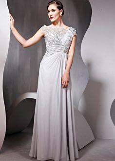 In Stock Elegant Sequin Net Net Satin Sheath Square Neck Grey Prom Dress #shopsimple #promwear #promdress