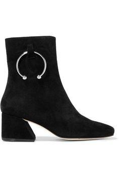 DORATEYMUR - Nizip Embellished Suede Ankle Boots - Black - IT38