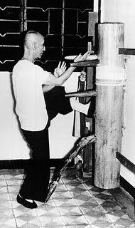 Yip Man with Wooden dummy