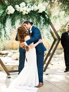 Pretty Colorado Mountain Wedding with Lace and Peonies Calling all outdoorsy couples! This Colorado mountain wedding brought color and charm to the woodsy landscape of the Roc. Simple Wedding Arch, Woodsy Wedding, Camp Wedding, Outside Wedding, Wedding Ceremony, Wedding Ideas, Wedding Blog, Wedding Planning, Wedding Inspiration