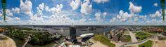 What a view een panormafoto van Joost Guntenaar vanaf B'Mine Toren in Amsterdam Noord.