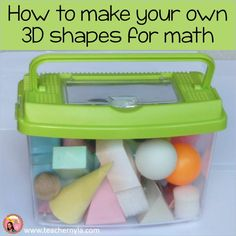 If you teach math, get free templates for making your own solids here! shapesIf you teach math, get free templates for making your own solids here! shapes Addition and Subtraction Within 5 by Dana's Wonderland 3d Shapes Worksheets, Book Bin Labels, Polka Dot Theme, Reading Tree, Make Your Own, Make It Yourself, Classroom Jobs, Apple Theme, Teaching Math