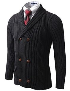 Doublju Mens Fur Knit Sweater Cardigan at Amazon Men s Clothing store  ae22a968b