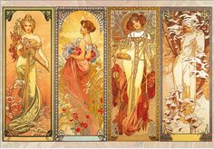 Alfons Mucha - Four Seasons