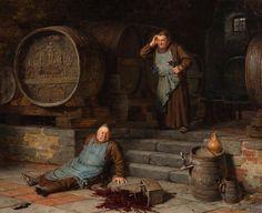 Eduward von Grützner The Catastrophe 1892 Milwaukee Art Museum