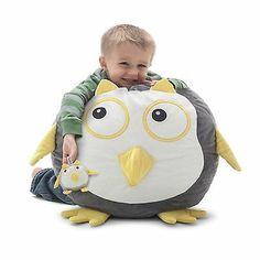 Childrens Animal Bean Bag Chair Oscar the Owl Bagimals with Stuffed Animal
