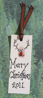 Christmas craft- super cute reindeer bookmark!