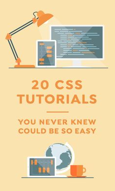 20 CSS Tutorials That You Never Knew Could be So Easy ~~ Gone are the days when a website was only about text. Now learning HTML is not sufficient because CSS (Cascading Style Sheets) has become th… ** Find out more at the image link. Design Websites, Web Design Tools, Web Design Trends, Web Design Tutorials, Web Design Inspiration, Tool Design, Coding Tutorials, Coding Websites, Design Ideas