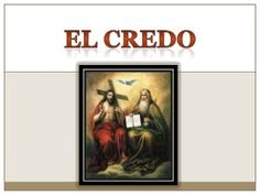 el credo Trinidad, Religion Catolica, Genesis 1, Holy Spirit, Norte, Apostles Creed, Bible