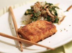 what's for dinner? // breaded tofu and sesame-shitake bok choy     #HEALTHY DINNER IDEAS