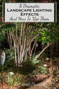 8 Landscape Lighting Effects and How To Use Them | Whether you're looking for DIY landscape lighting ideas for your front yard, backyard or walkway, this list will help! It shows you lots of ways to use both low voltage and solar lights in your garden or