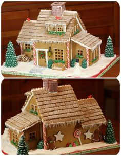 Gingerbread house- shredded wheat frosted