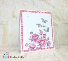 Blue Owl Avenue / DIY - scrapbooking - garden Penny Black Sunny Wishes Clean&simple card