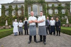 (front L-R) John Kelly and Head Chef Ken Harker with the Lady Helen team - retaining the Michelin Star Lady Helen restaurant. The Lady Helen at Mount Juliet Estate has retained it's Michelin Star for the year.ie / 056 777 3000 Mount Juliet, Spa Breaks, Michelin Star, Luxury Accommodation, New Details, 5 Star Hotels, Ireland, Lady, Kitchen Ideas