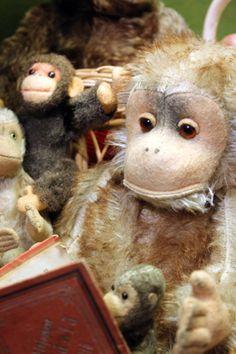 Toy monkeys. Suomenlinna Toy Museum, Helsinki, Finland.