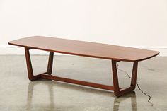 Classic Mid Century Modern Walnut Coffee Table  PLEASE MESSAGE BEFORE BUYING TO SUBMIT A SHIPPING QUOTE.  $595  Excellent newly refinished condition.  Please email if you are interested in ...