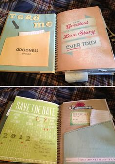 Create a book of letters that your fiancé can read while getting ready the day of.
