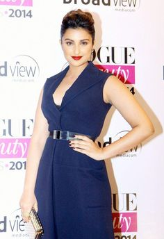 Parineeti Chopra wore a Dior jumpsuit at Vogue Beauty Awards 2014. #Style #Bollywood #Fashion #Beauty