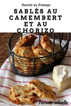 Camembert and chorizo shortbread: discover the cooking recipes of Femme Actuelle Le MAG - Discover our recipe for shortbread with camembert and chorizo. Chorizo, Tapas, Shortbread Recipes, Snacks, Coffee Recipes, Food Inspiration, Breakfast Recipes, Food Porn, Easy Meals
