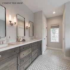 Cement Tile Shop - Encaustic Cement Tile Circulos Grey II