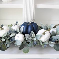 Fall Home Decor, Autumn Home, Holiday Decor, Dining Room Table Centerpieces, Floral Centerpieces, Green Hydrangea, Hydrangeas, Green Pumpkin, Fall Arrangements