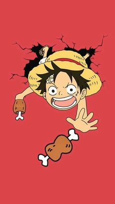 Yum yum no jet chicken – Monkey D Luffy One Piece Manga, One Piece Ace, One Piece Luffy, Monkey D Luffy, Chibi, Cute Cartoon Wallpapers, Animes Wallpapers, Anime One, Manga Anime