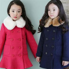Children'S Wear Factory Wholesale Korean Children Girls Fur Collar Plus Cotton Coat Children Coat Girls Cotton Coat Wholesale Fall Coats For Girls Girls 3 In 1 Winter Coats From Cardinel2, $13.35| Dhgate.Com