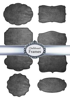 Digital Frames Labels Tags Chalkboard by Silvercrystalscouk