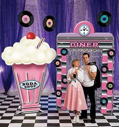 50's theme centerpieces for adult party | How about a 50's Party Theme and feel inspired to rock around the ...
