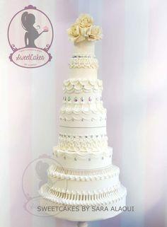 Royal Wedding cake - Cake by Sweetcakes Elegant Wedding Cakes, Elegant Cakes, Beautiful Wedding Cakes, Beautiful Cakes, Amazing Cakes, Cupcakes, Cupcake Cookies, Wedding Cake Bakery, French Cake