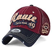 139398bad48 ililily America Route 49 Gold Rush Casual Cotton Mesh Trucker Hat Baseball  Cap
