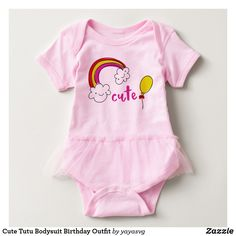 Cute Tutu Bodysuit Birthday Outfit