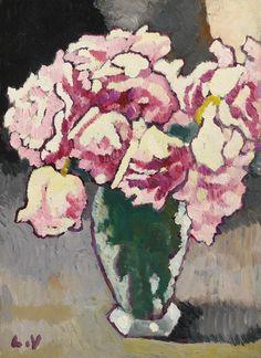 Vase of Roses, 1943. Louis Valtat
